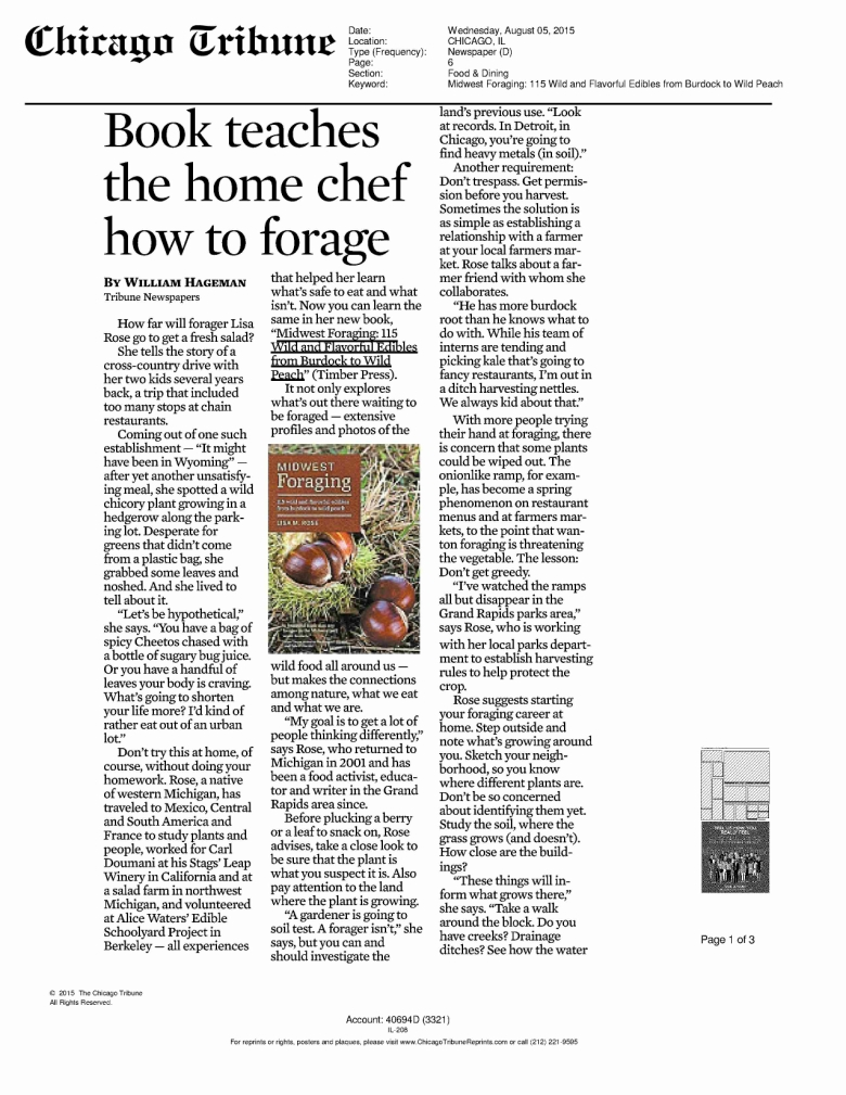 INTERVIEW Midwest Foraging_Chicago Tribune